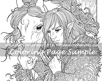 """Art of Meadowhaven Fantasy Coloring Page Download: """"Trust"""""""