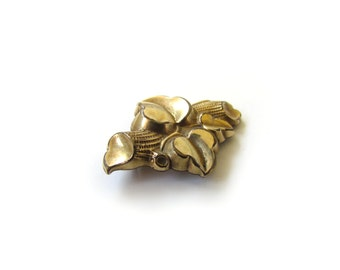 Antique Victorian Puffed Ivy Leaf Brooch c.1880s