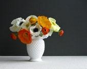 Vintage Fenton Hobnail Milk Glass Vase,...