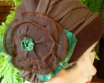 womens chemo hat brown hat winter hat winter beanie