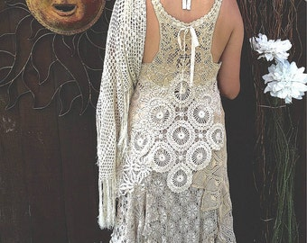 Vintage Lace Wedding Dress, Unique Wedding Dress, OOAK Design, Two-Piece Wedding Dress, Boho Wedding Dress, Alternative Wedding