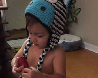 Zebra Hat- Newborn-4T/cbbcreations/Photo Prop /Animal Hat