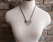 Mini Here Comes The Sun // sunburst necklace // minimal spikes // needles necklace // boho // tribal // modern