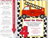 Firetruck Party Invitation | Firetruck Birthday Invitation | Fireman Invitation Printable | Firetruck Invite | Amanda's Parties To Go