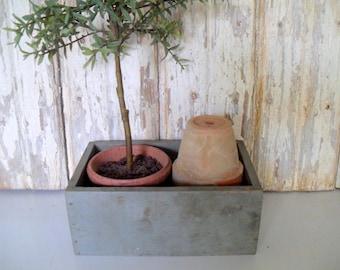 Vintage Wooden Box, Small Wood Drawer, Gray Box, Shabby Wood Box, Rustic Box