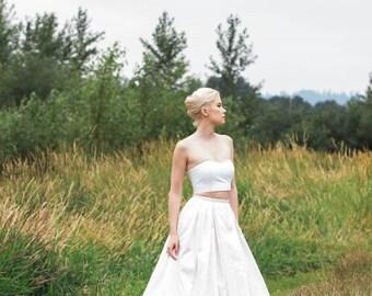 Wedding Skirt Silk Taffeta, PIPER, Ivory, White, Grey, Blush, Blue, Black Colors