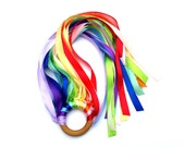 Twelve Color Ribbon Handkite Double Rainbow Whirligig Twirling Kite