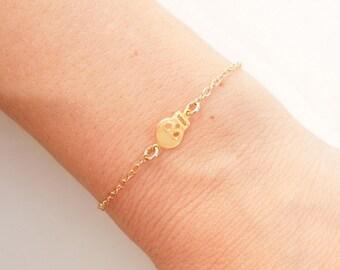 Skull Bracelet in Gold