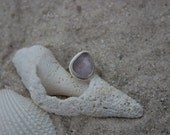 Silver Mermaid Ring | Sea Glass Mermaid Ring | Lavender Sea Glass Sterling Silver Ring | Mermaid Jewelry | Bohemian Ring | Silver Ring Women
