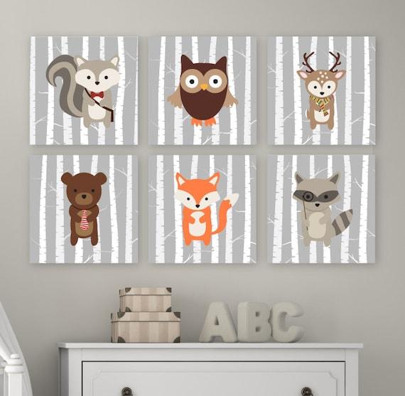 Baby Room Ideas Nursery Themes And Decor: Woodland Nursery Art Woodland Nursery Decor Forest Animals