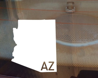 Arizona Car Decal, State Decal, Arizona Decal, Laptop Decal, Laptop Sticker, Car Sticker, Decal, Vinyl Decal, AZ, Home, Sticker, Any State