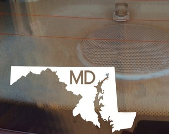Maryland Car Decal, State Decal, Maryland Decal, Laptop Sticker, Laptop Decal, Car Sticker, Car Decal, Vinyl Decal, MD, Window Sticker