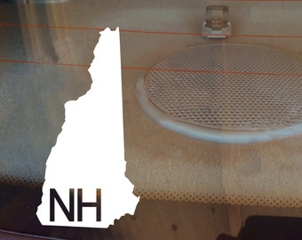New Hampshire Car Decal, State Decal, New Hampshire Decal, Laptop Decal, Laptop Sticker, Car Sticker, Decal, Vinyl Decal, NH, Window Decal