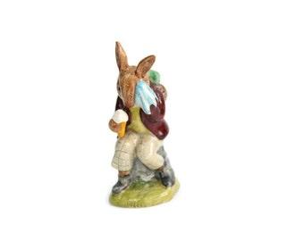 Bunny Figurine - Royal Doulton Figurine, Bunnykin's Figurine, Billy Bunnykin Collectible, Child's Christmas Gift, c1972s