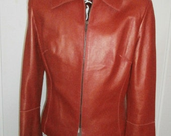 Stylish Red Leather Jacket
