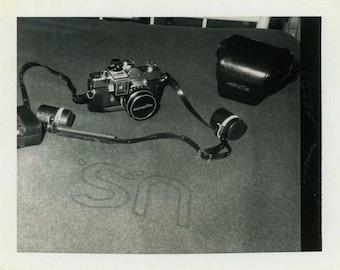 "Vintage Photo ""Military Photographer"" Gear Camera Snapshot Photo Antique Photo Black & White Photograph Found Paper Ephemera Vernacular - 80"