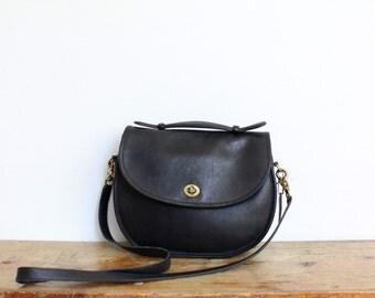 Vintage Coach Purse // Coach Plaza Bag Black // Coach Crossbody Bag Handbag