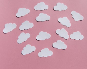 100 pcs. READY TO SHIP-White Cloud Confetti, Embellishments, Scrapbooking