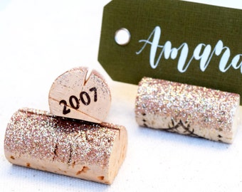 glitter place card holder wedding place cards rehearsal dinner decorations dinner party decor wine tasting party