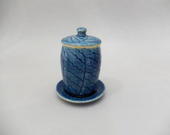 Ceramic Honey Jar - Stoneware Judaice Pottery- Rosh Hashanah -Hostess Gift