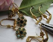 12 Pairs Flower Lever Back Earring Wires