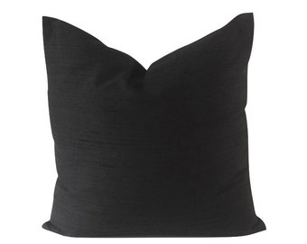Decorative Pillow Cover -5 COLOR CHOICES -Silk Dupioni Light Weight Silk- Invisible Zipper Closure- Knife Or Pipping Edge