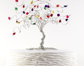 Candy Tree Cake Topper Wedding Birthday Sweet Sixteen Custom Wire Tree Sculpture