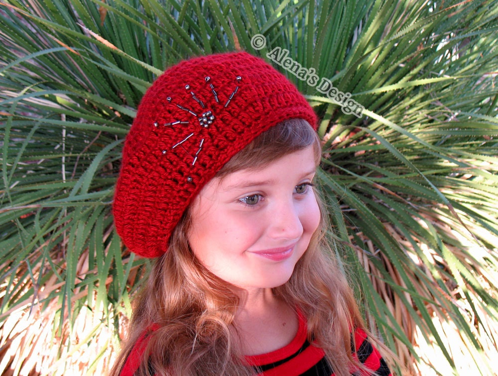 Crochet Pattern 144 Crochet Hat Pattern Embroidered Beaded