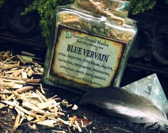 BLUE VERVAIN HERB Jar, Dried Loose Herb, Herbal Apothecary