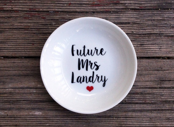 Ring Dish | Engagement Gift | Wedding Ring | Holder | Personalized | Jewelry Dish