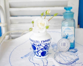 Vintage Italian Milky Glass Jam Jelly Jar -