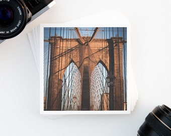 SALE, Wall Art, Brooklyn Bridge, New York City Decor, Fine Art Print, Square Art Print, Affordable Wall Art, Gallery Wall Print, NYC Art