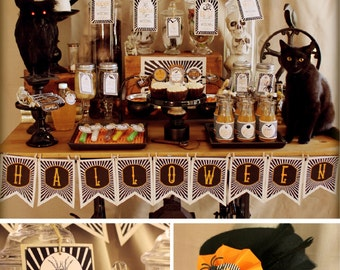 HALLOWEEN Printables - Set includes apothecary prop labels, favor tags, drinks labels, bunitng banner & more - DIY Printing