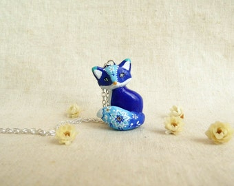 Fox necklace. One of a kind, ready to ship.