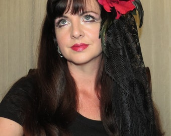 ROUGE GYPSY Gothic Headdress Hair Adornment ooak