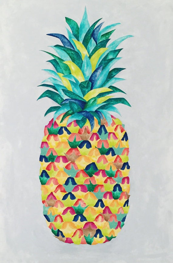 Items Similar To Crazy Pineapple Print Different Sizes