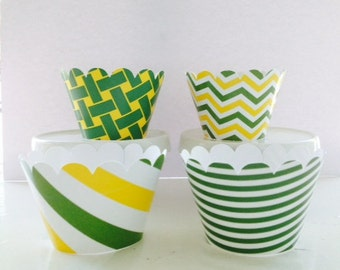 Yellow & Green ~ Tractor Party ~ John Deere Inspired Party ~ Cupcake Wrappers ~ Standard Size  ~ Set of 12