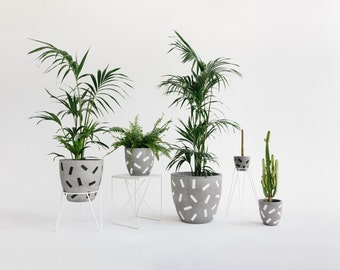 Concrete Planter - Confetti Range - Sizes M, L and XL