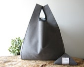 RESERVED LISTING men tote bag made with gray cotton and grocery bag beige with flower 35x45x12
