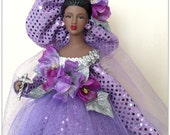 Art Doll Inspirational African American Virtuous Woman Black Doll OOAK 18 Inch Tall Mantle Decoration
