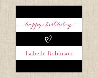 Birthday Gift Labels. set of 25