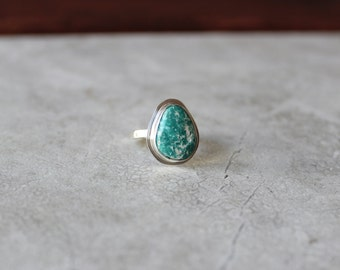 Fox Turquoise Ring, Nevada Turquoise Ring, OOAK Size 7.5 US