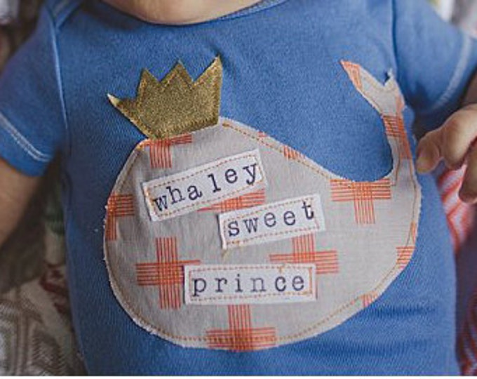 """Swanky Shank  DYED """"Whaley Sweet Prince"""" Short Sleeved Bodysuit"""