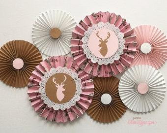 Pink Realtree Camo Deer Rosettes
