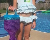 LITTLE MERMAID Party Favor Tote- ARIEL Swimming Party Tote- Halloween Trick or Treat Bag- Dance Bag- Small