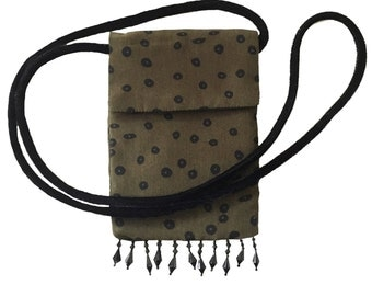 Black Cell on Olive Cellmate™ Smartphone Bag