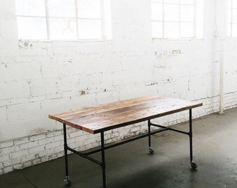Industrial Reclaimed Table | Work Station | Display Table | Dining Table | Kitchen Island