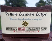 Dragon's Blood Soap--vegan soap--olive oil soap--coconut oil soap