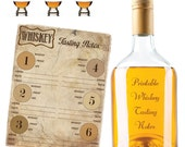 Whiskey Tasting Notes for up to 6 Kinds - Whiskey Score Card - Whiskey Party - Whiskey Rating Sheet - Whiskey Printable