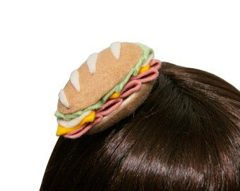 Mini Deli Sub Sandwich Hair Clip - Many Toppings to Choose From! - Made to Order
